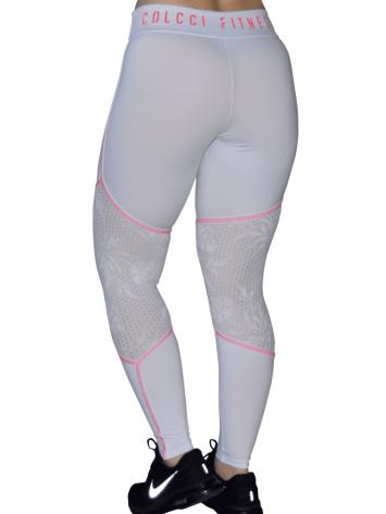 COLCCI FITNESS Leggings Sexy Texture Mesh Leggings