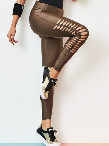 CAJUBRASIL Leggings 9054 Effect Sexy Leggings Brazilian Coffee