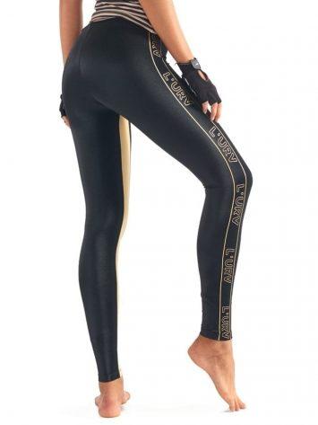 L'URV Leggings ENERGIZE ME Leggings Sexy Workout Tights Black LG