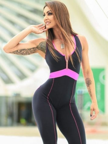 DYNAMITE Jumpsuit Macacao ML2092 Black Ruby -Sexy One-Piece Romper