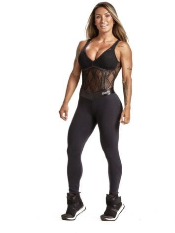 OXYFIT Jumpsuit Draft 15224 Black Sexy Rompers 1-Piece