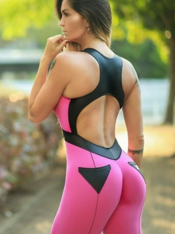 DYNAMITE Jumpsuit One-Piece ML2092 Fitness Aries View – Pink