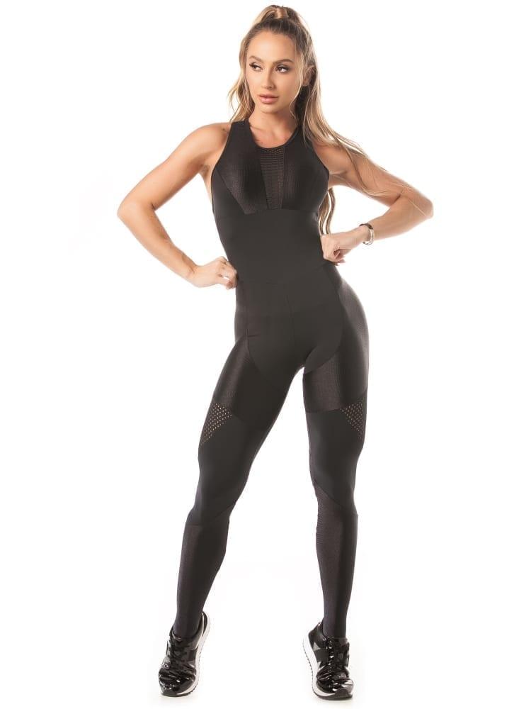 Let's Gym Jumpsuit Tech Fit - Black