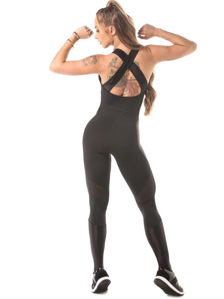Let's Gym Jumpsuit Tech Fit – Black