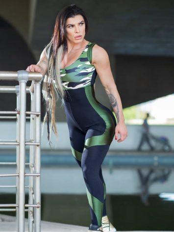 Dynamite Brazil Jumpsuit – Maskuar – Camo/Black Green