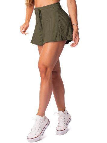 Let's Gym Fitness Skort Canelado Fluid – Military Green
