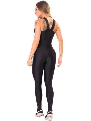 Let's Gym Fitness Active Shine Jumpsuit - Black