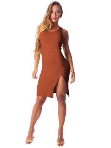 Let's Gym Fitness Vestido Canelado Lux and Power – Clay