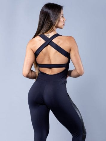 OXYFIT Activewear Jumpsuit Gauzy 1 piece – Black