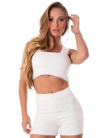 Let's Gym Fitness Trico Angora Top – Off-White