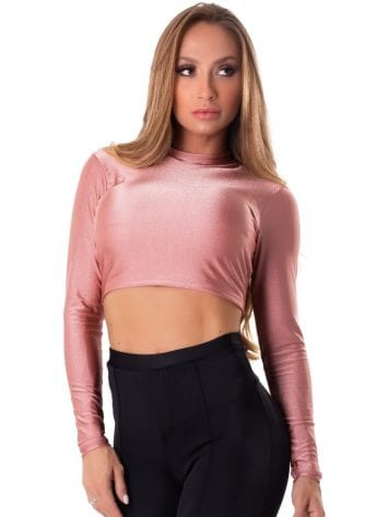 Let's Gym Fitness Cropped Backtie Glow Top – Rose